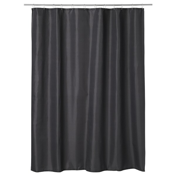 SAXÄLVEN shower curtain anthracite 116 g/m² 200 cm 180 cm 3.60 m² 116 g/m²