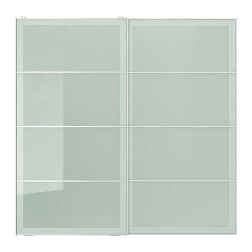 Sekken Pair Of Sliding Doors Frosted Glass