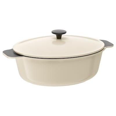 SENIOR casserole with lid off-white 39 cm 26 cm 5 l