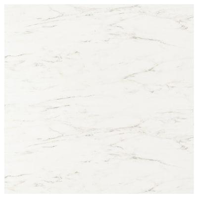 SIBBARP Custom made wall panel, white marble effect/laminate, 1 m²x1.3 cm