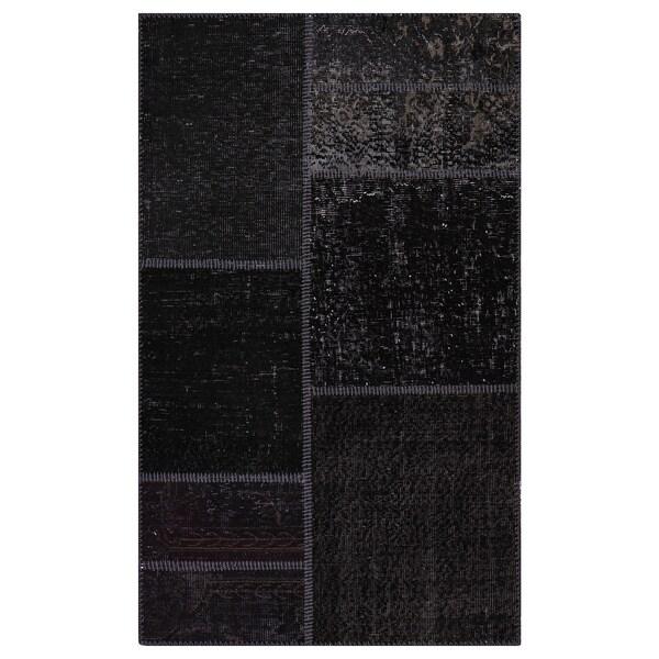 SILKEBORG Rug, low pile, assorted grey shades, 90x150 cm