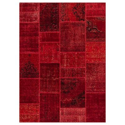 SILKEBORG rug, low pile assorted red shades 240 cm 170 cm 4.08 m² 8 mm