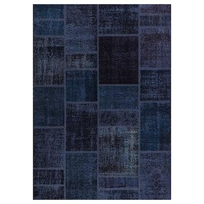 SILKEBORG rug, low pile assorted blue shades 240 cm 170 cm 4.08 m² 8 mm