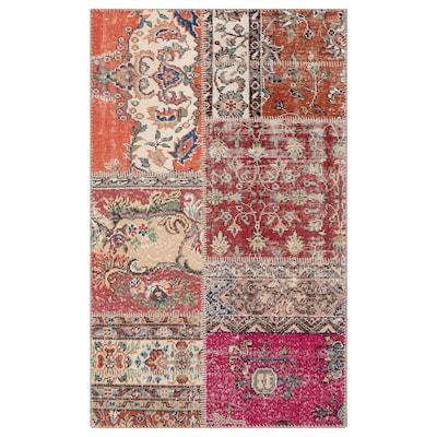 SILKEBORG rug, low pile assorted neutral colours 150 cm 90 cm 1.35 m² 8 mm