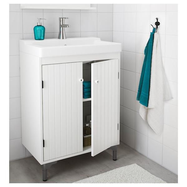 SILVERÅN Wash-basin cabinet with 2 doors, white, 60x38x68 cm