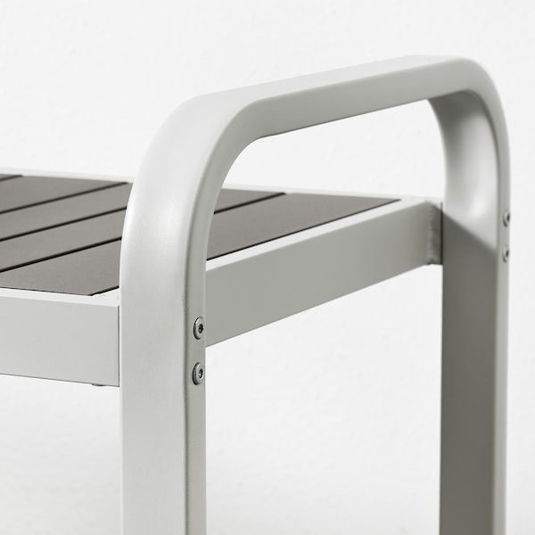 SJÄLLAND bench, outdoor light grey/dark grey 136 cm 42 cm 52 cm 127 cm 42 cm 43 cm