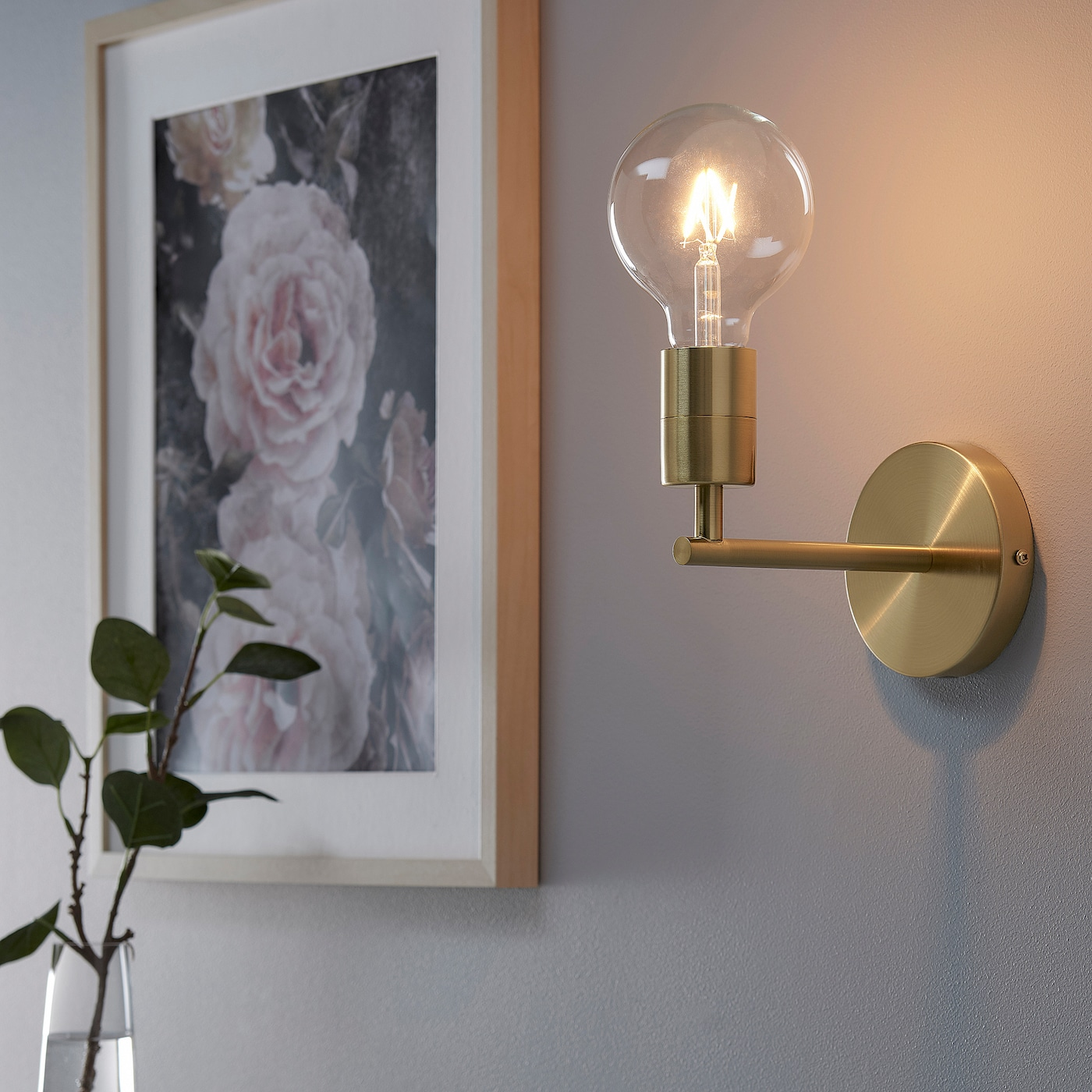 Skaftet Wall Lamp Wired In Installation Brass Plated Ikea