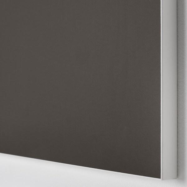 SKATVAL Drawer front, dark grey, 80x20 cm