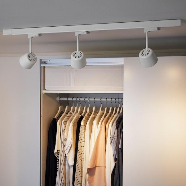 SKENINGE LED spotlight, white, 9.5 cm