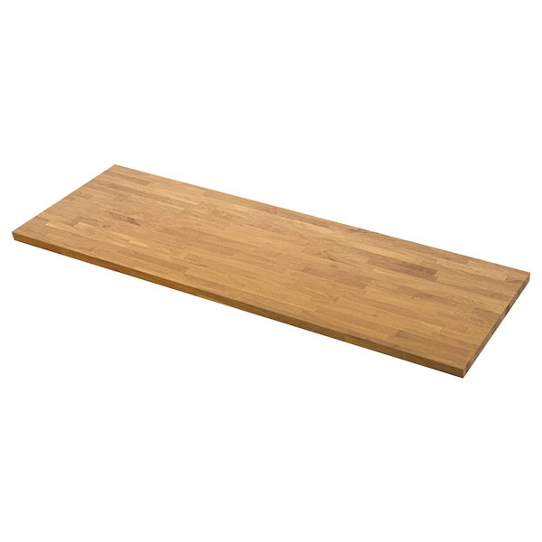 SKOGARP Custom made worktop, oak/solid wood, 45.1-63.5x4.0 cm