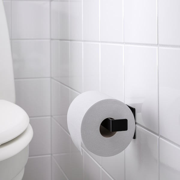 SKOGSVIKEN Toilet roll holder, black