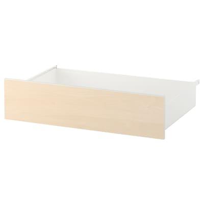 SKROVA drawer white/birch 80 cm 57 cm 20 cm