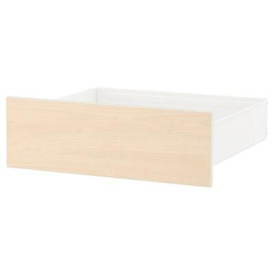 SKROVA drawer white/birch 60 cm 57 cm 20 cm