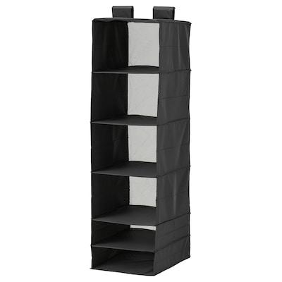 SKUBB storage with 6 compartments black 35 cm 45 cm 125 cm