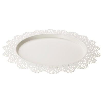 SKURAR Candle dish, white, 37 cm