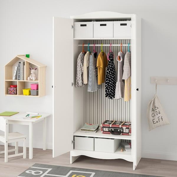 SMÅGÖRA Wardrobe, white, 80x50x187 cm