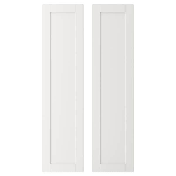 SMÅSTAD Door, white/with frame, 30x120 cm
