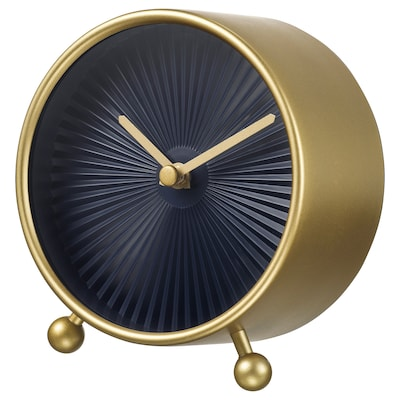 SNOFSA table clock brass-colour 5.5 cm 11 cm 12 cm