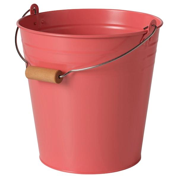 SOCKER Bucket/plant pot, in/outdoor orange-pink, 10 l