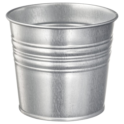 SOCKER Plant pot, in/outdoor/galvanised, 10.5 cm