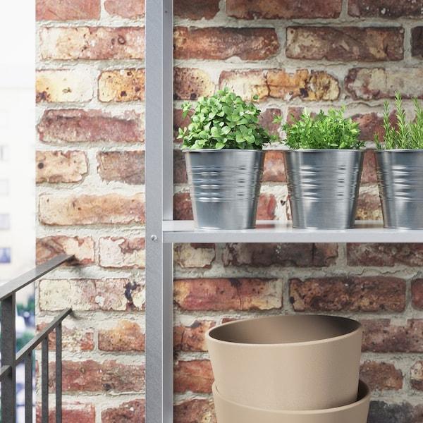 SOCKER Plant pot, in/outdoor/galvanised, 12 cm