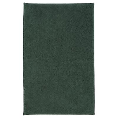 SÖDERSJÖN Bath mat, dark green, 50x80 cm