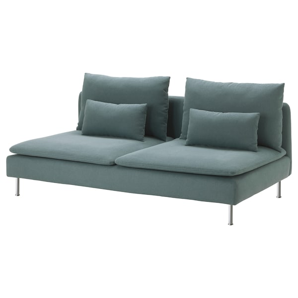 SÖDERHAMN 3-seat section Finnsta turquoise 186 cm 99 cm 83 cm 186 cm 48 cm 40 cm