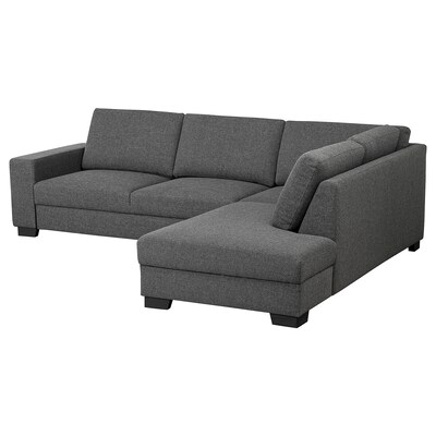 SÖRVALLEN corner sofa, 3-seat with open end, right/Lejde dark grey 88 cm 232 cm 232 cm 285 cm 7 cm 21 cm 58 cm 61 cm 192 cm 45 cm