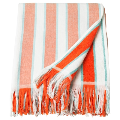SOLBLEKT beach towel striped orange 180 cm 100 cm