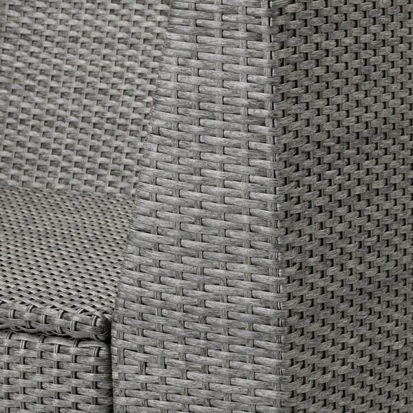SOLLERÖN Corner section, outdoor, dark grey