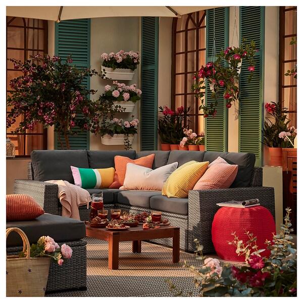 SOLLERÖN Modular corner sofa 3-seat, outdoor, dark grey/Frösön/Duvholmen dark grey
