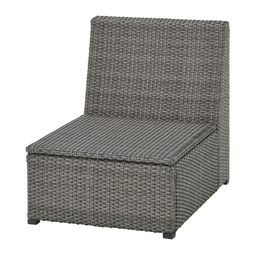 Sollerön One Seat Section Outdoor Dark Grey