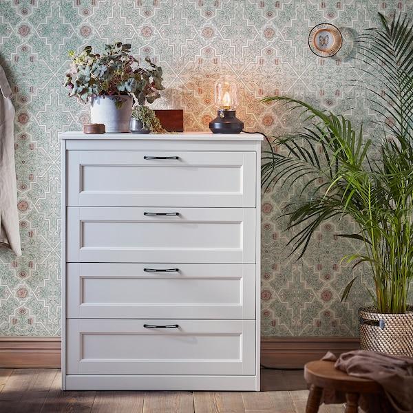 SONGESAND Chest of 4 drawers, white, 82x104 cm