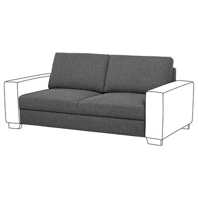 SÖRVALLEN 2-seat section, Lejde dark grey