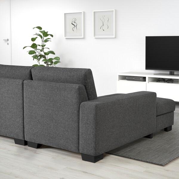 SÖRVALLEN 2-seat sofa, Lejde dark grey