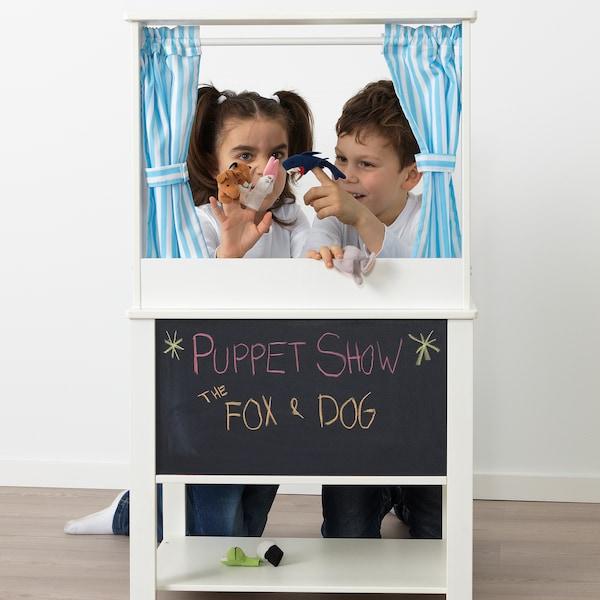 SPISIG Play kitchen with curtains, 55x37x98 cm