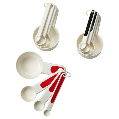 STÄM set of 4 measuring cups red/white/black
