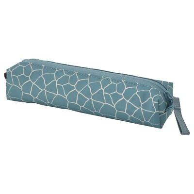 STARTTID Pencil case, patterned blue
