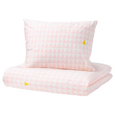 STILLSAMT Quilt cover and pillowcase, light pink, 140x200/60x70 cm
