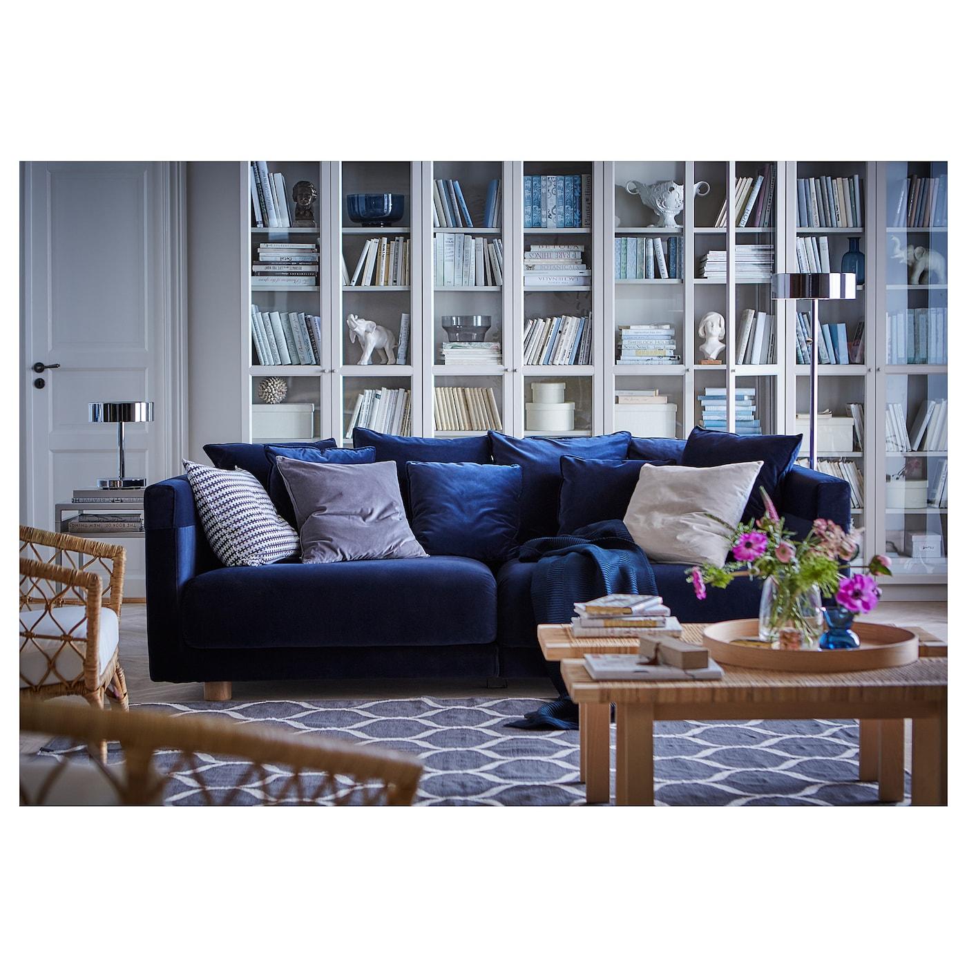 Stockholm 2017 Three Seat Sofa Sandbacka Dark Blue Ikea