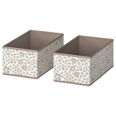 STORSTABBE Box, beige, 20x37x15 cm