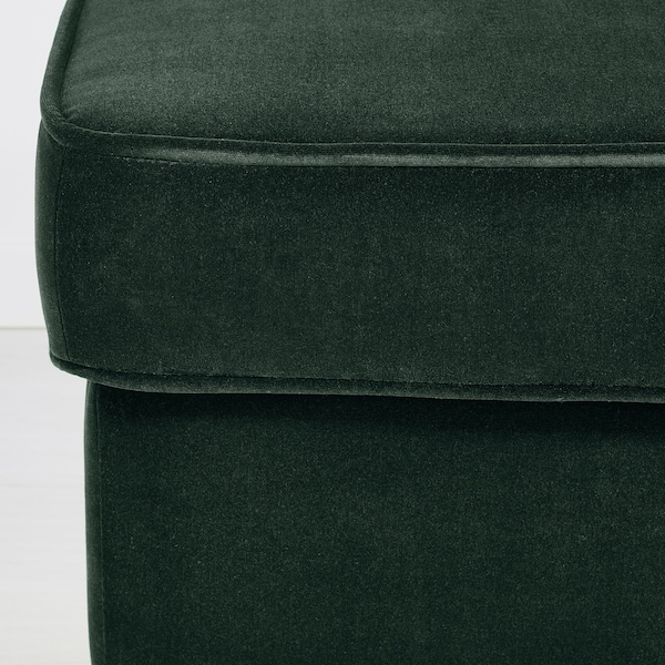 STRANDMON Footstool, Djuparp dark green