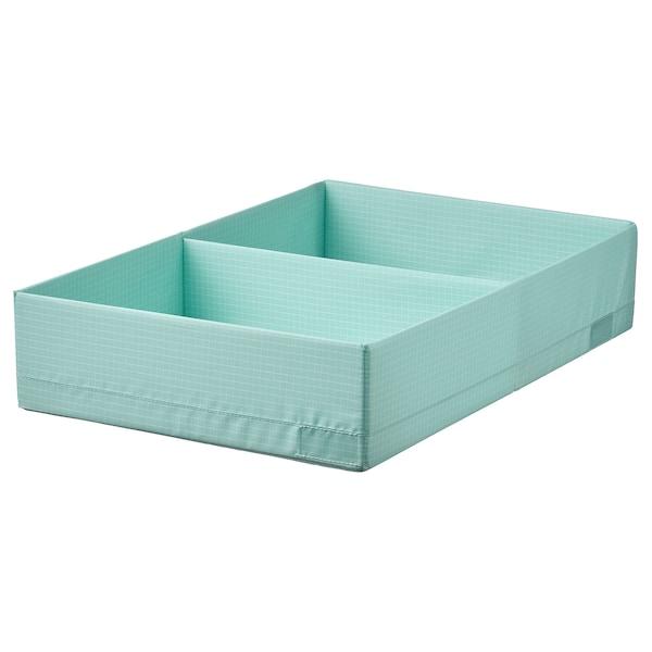 STUK Box with compartments, light turquoise, 34x51x10 cm