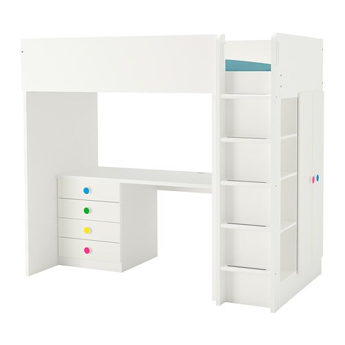 Stuva Följa Loft Bed Combo W 4 Drawers2 Doors White