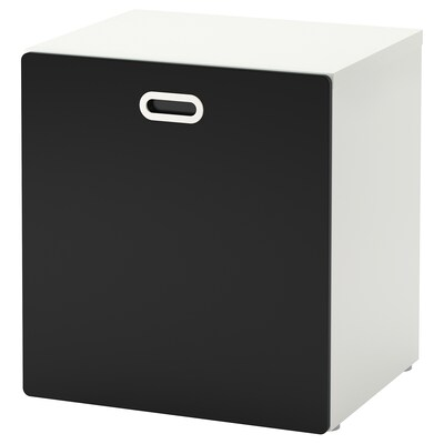 STUVA / FRITIDS Toy storage with wheels, white/blackboard surface, 60x50x64 cm