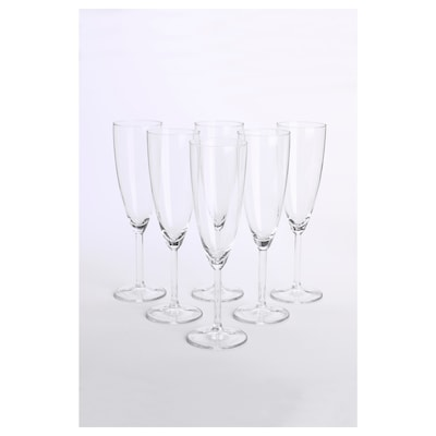SVALKA Champagne glass, clear glass, 21 cl
