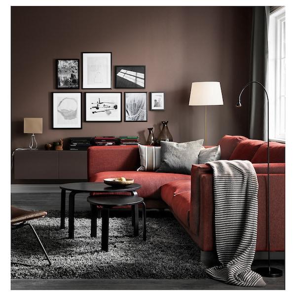 SVALSTA Nest of tables, set of 2, black-brown stain