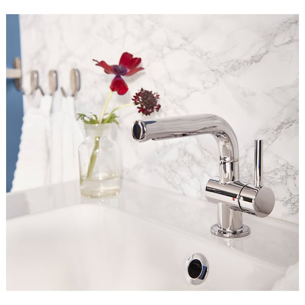 SVENSKÄR Wash-basin mixer tap with strainer, chrome-plated