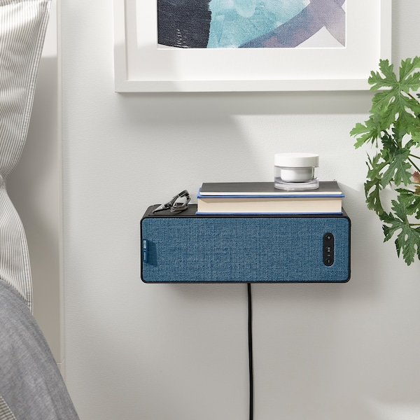 SYMFONISK Front for bookshelf speaker, blue