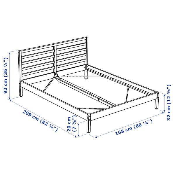 TARVA Bed frame, pine/Luröy, 160x200 cm